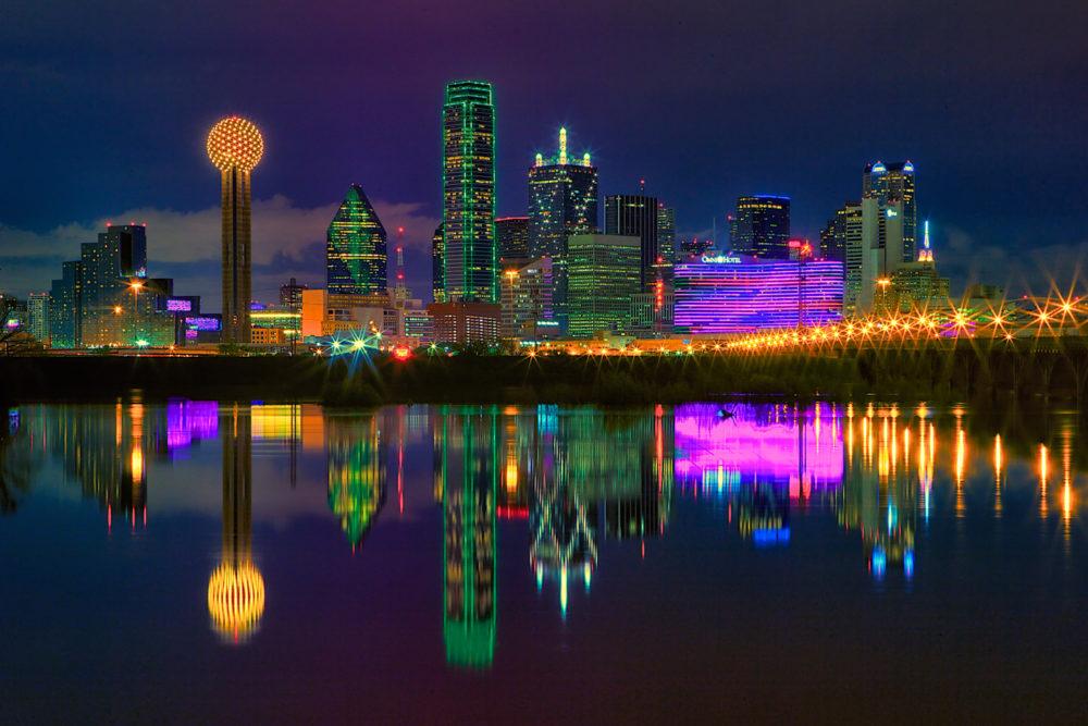 Hipster City Skyline Dallas City Skyline Texas