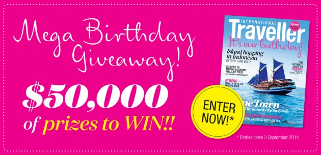 International Traveller birthday giveaway