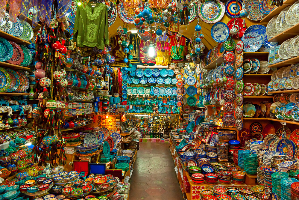 60. Shop in the Grand Bazaar in Istanbul, Turkey - International Traveller Ma...
