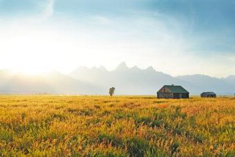 Grand Teton in Wyoming, USA