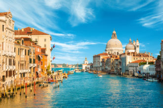 European travel icon, Venice in Italy.