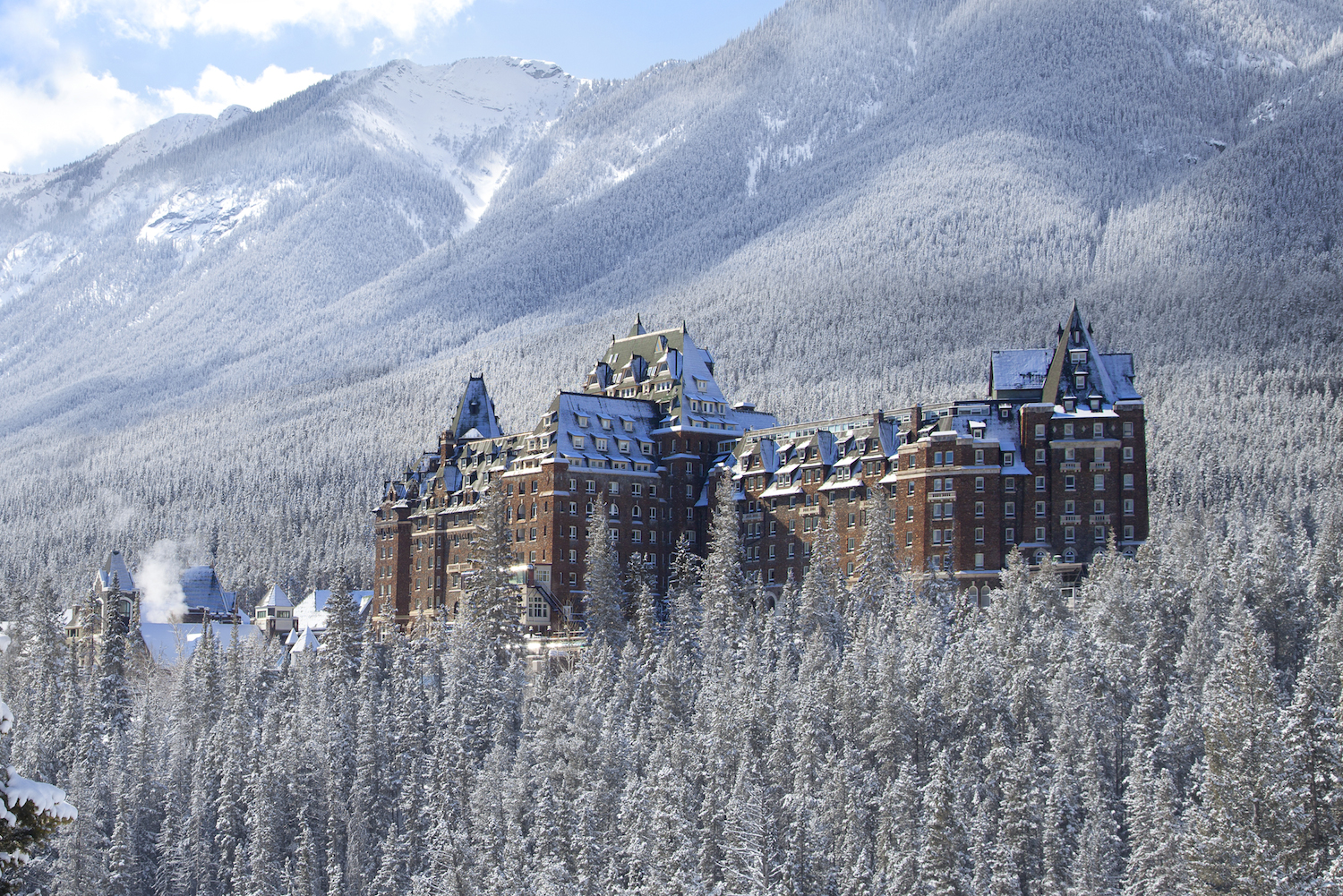 Spend a white Christmas at Lake Louise