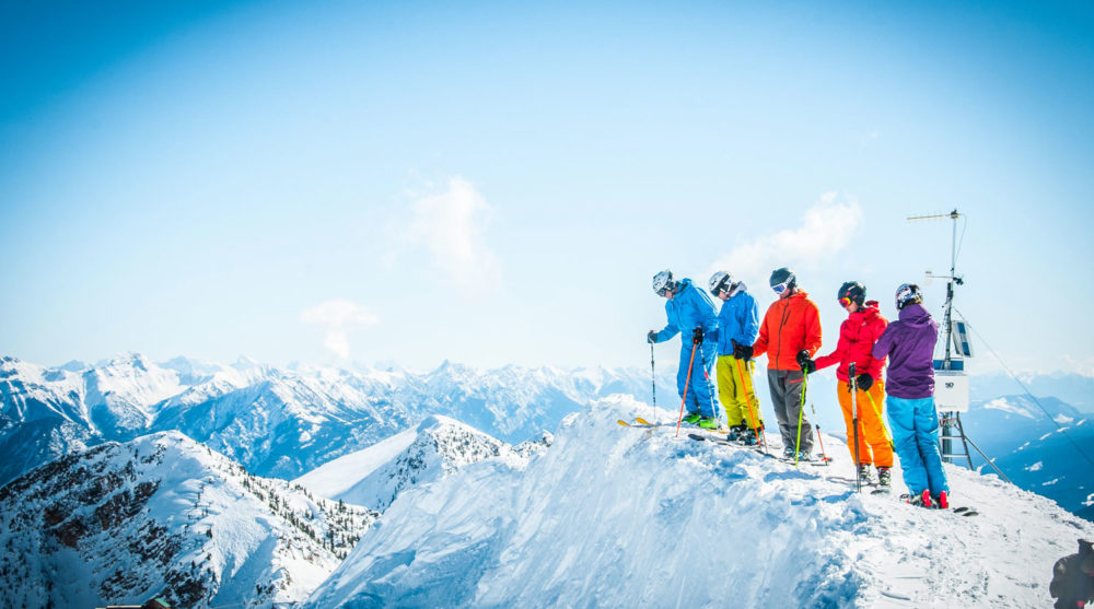 Taking in the sights over Kicking Horse Mountain Resort.