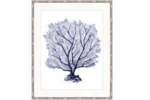 Coral Splendour indigo print, $825