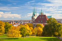 Erfurt, Severikirche and Cathedral.