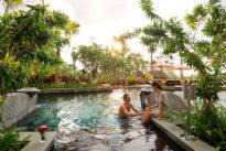 Two people enjoying a romantic escape at RIMBA Jimbaran Bali by AYANA