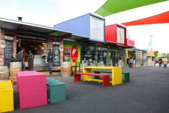 The re:START mall in Christchurch is all shipping containers.