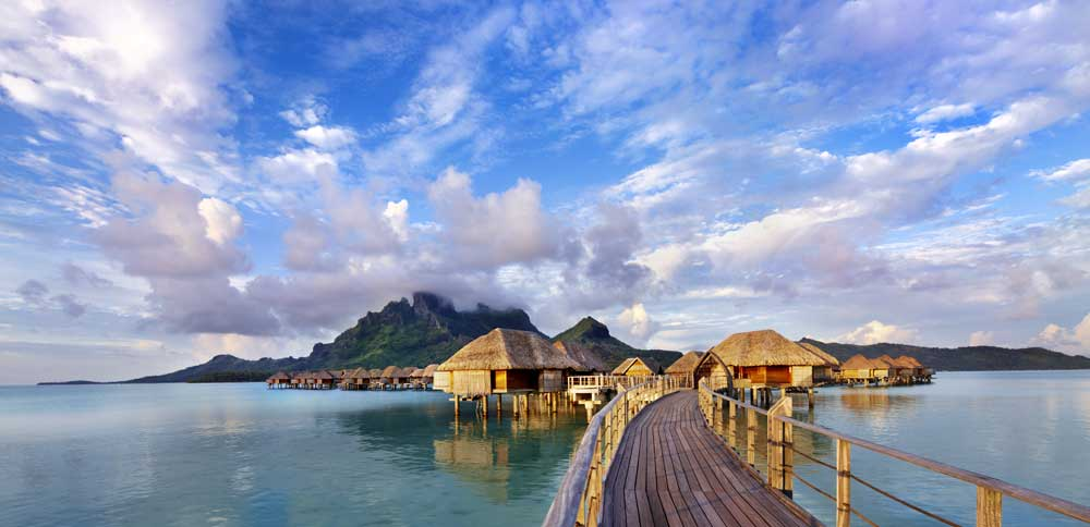 Four Seasons Resort Bora Bora at sunset