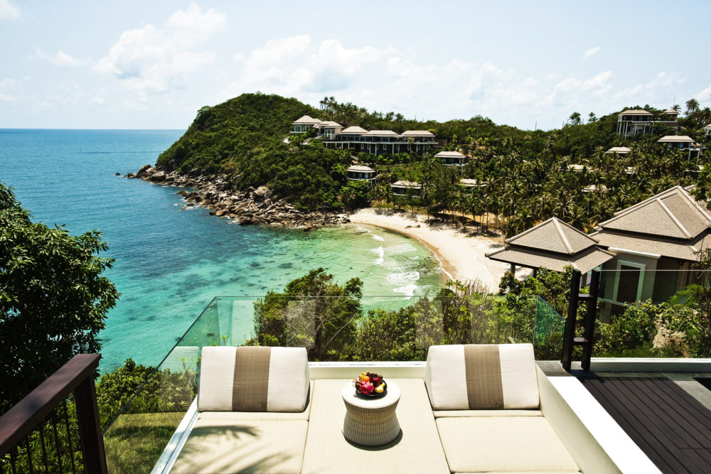 The ocean views from Banyan Tree Koh Samui.
