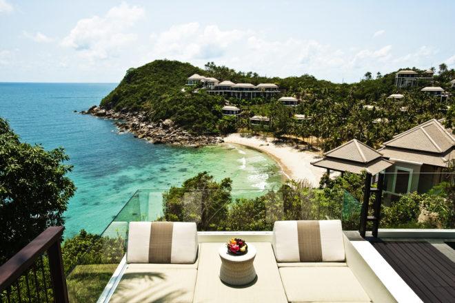 The ocean views from Banyan Tree Koh Samui.