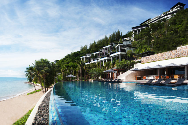 Exterior of Conrad Koh Samui resort