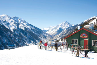 There's alpine views from every mountain hut on Aspen's four ski mountains.