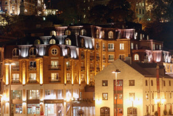 Auberge Saint-Antoine hotel in Quebec, Canada.