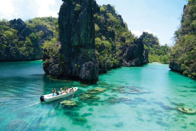Exquisite sights of El Nido's 'Big Lagoon'.