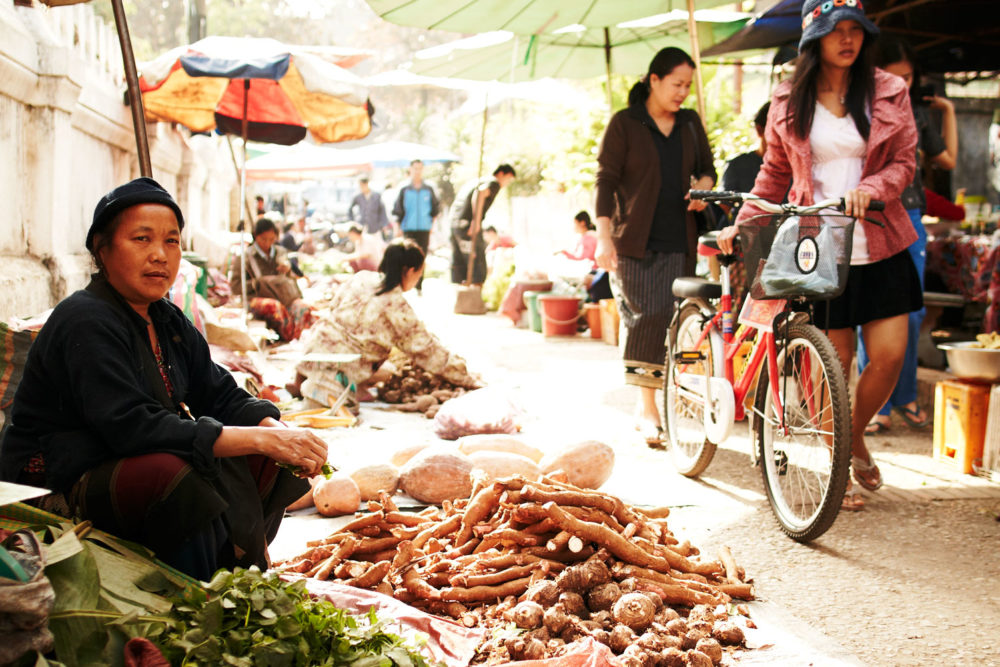 Phousi Market in Luang Prabang, Laos.