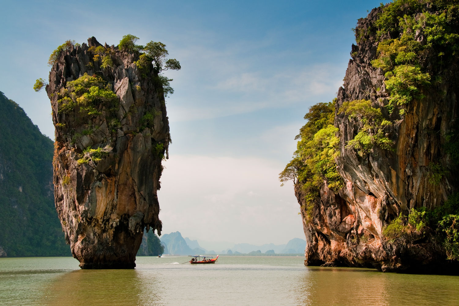 Speedboat tour around Phang Nga Bay, Phuket, Thailand.
