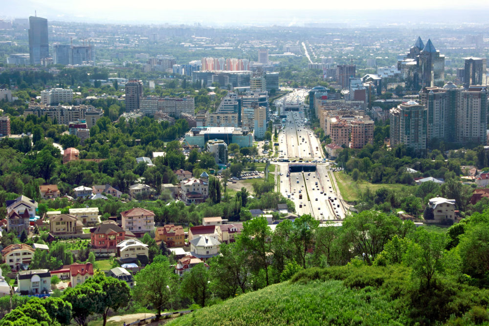 Almaty in Kazakhstan.
