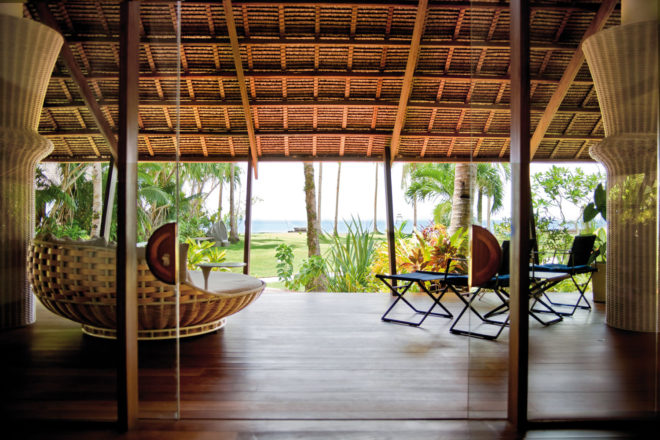 Dedon Island resort on Siargao Island in the southern Philippines.
