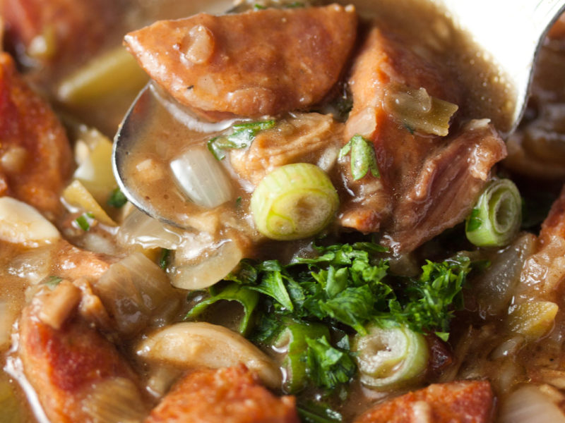 The New Orleans specialty, gumbo.