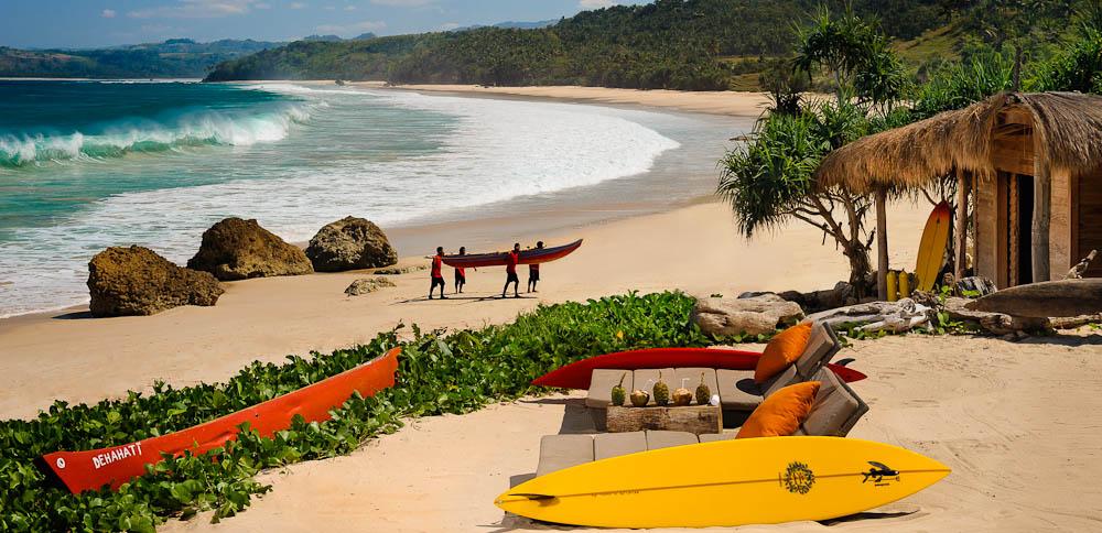 Plenty of beach side activities at Nihiwatu Resort
