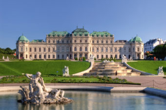 One of the most important baroque buildings in Vienna, the Schloss Belverdere.