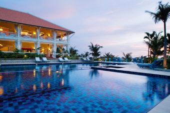 The unmissable pool at La Veranda, overlooking the beach on Phu Quoc, Vietnam.