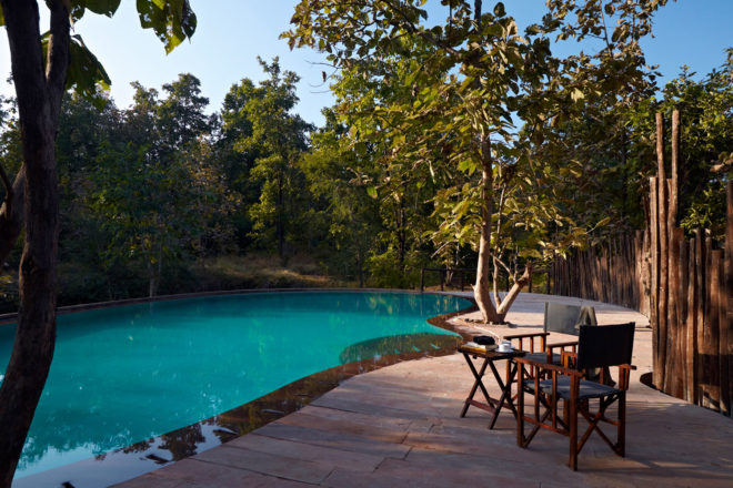 Reni Pani resort on the outskirts of Satpura National Park in Madhya Pradesh, India.