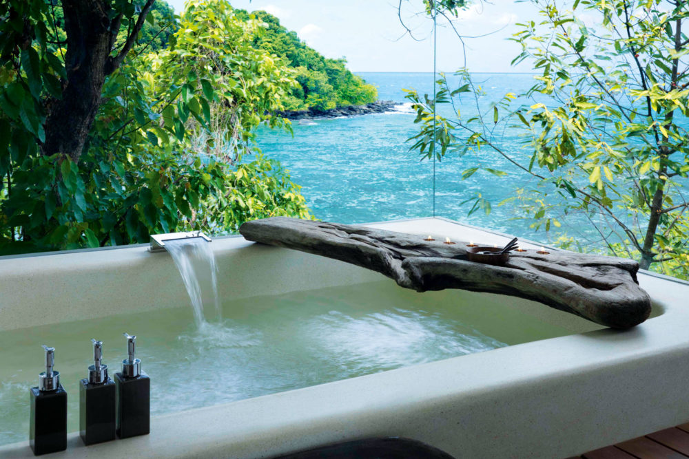 Bathtub with a view at Song Saa retreat, Cambodia.