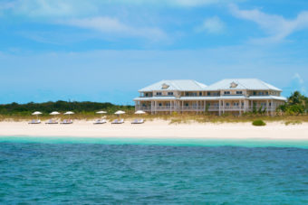 The Beach House on Grace Bay in the Caribbean.