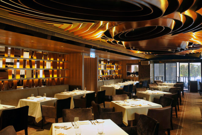 Gold by Harlan Goldstein restaurant in Hong Kong.
