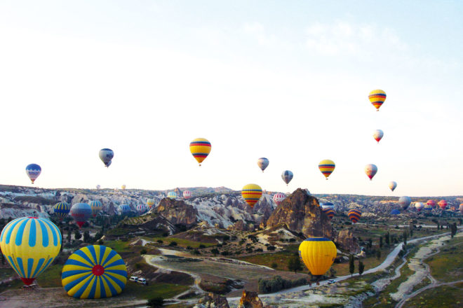Hot air ballooning in Goreme, Turkey.