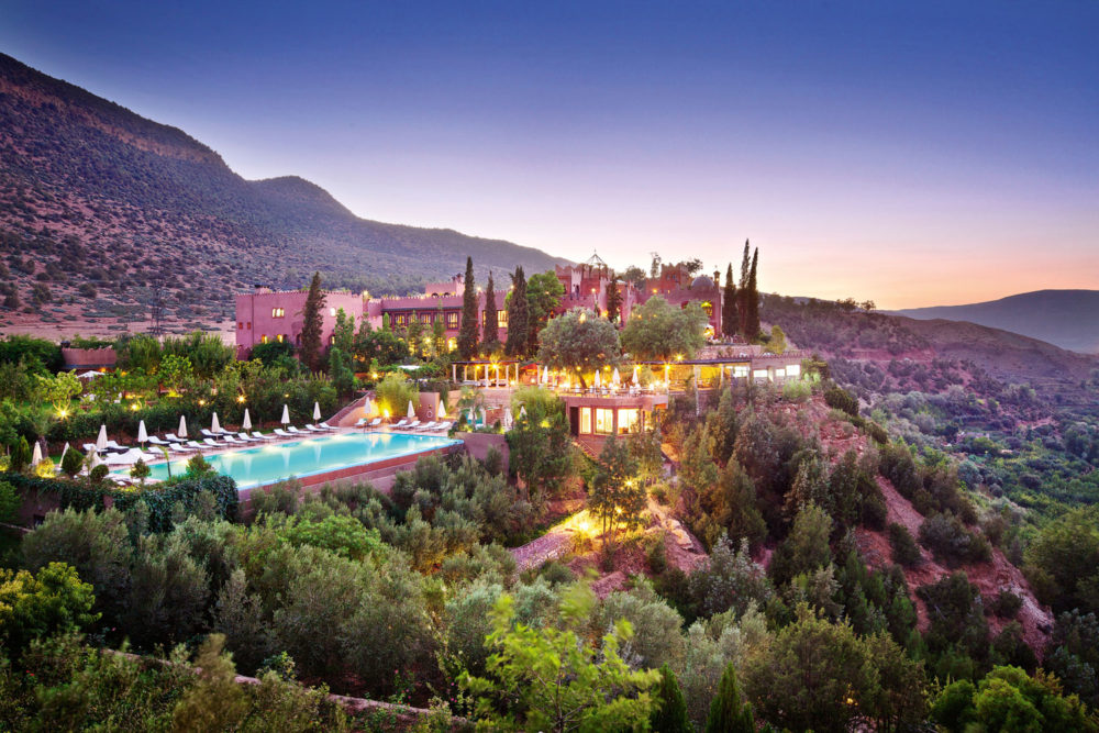 Kasbah Tamadot in Morocco's Atlas Mountains, owned by Sir Richard Branson.