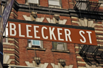 New York City's other great shopping strip, Bleecker Street.
