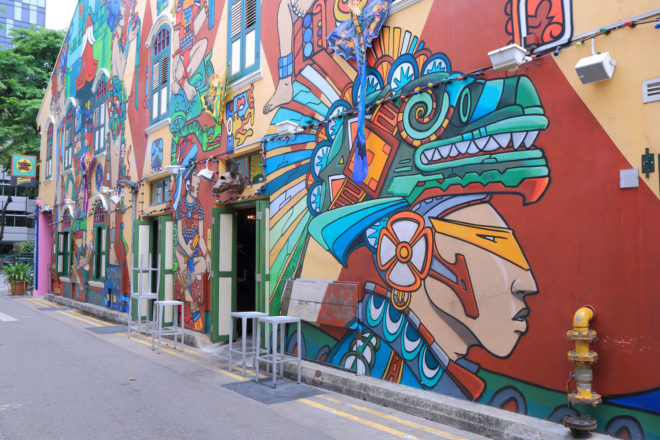 Haji Lane street art.