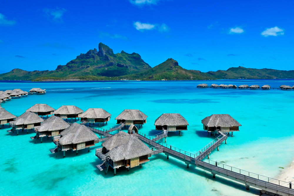 Four Seasons Bora Bora resort.