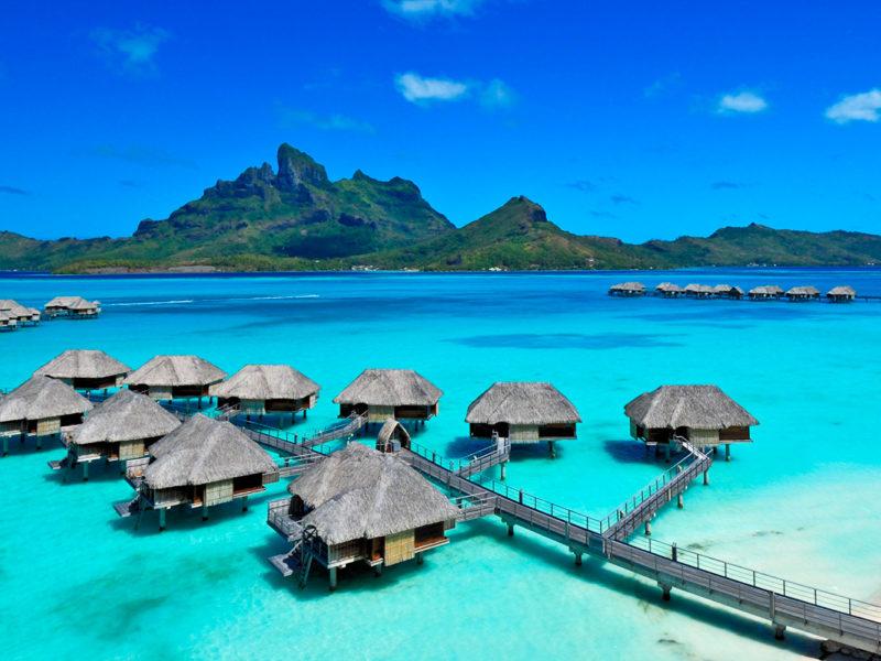 Four Seasons Bora Bora resort.
