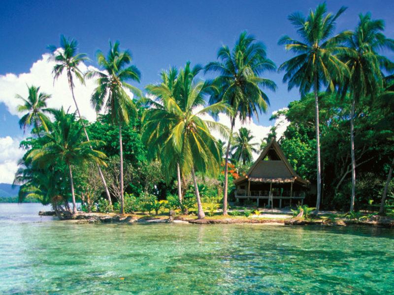 Marovo Lagoon in the Solomon Islands.
