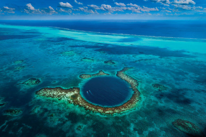 Planet Ocean: The Great Blue Hole, Lighthouse Reef, Belize.