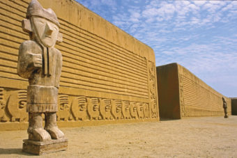 Ruins of an ancient Moche city in Trujillio, Peru.