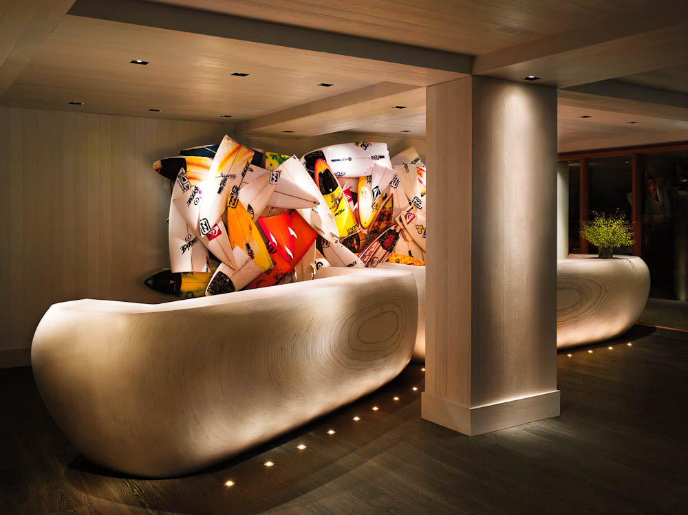 'Gnarly' reception, by Herbie Fletcher, The Modern, Honolulu.