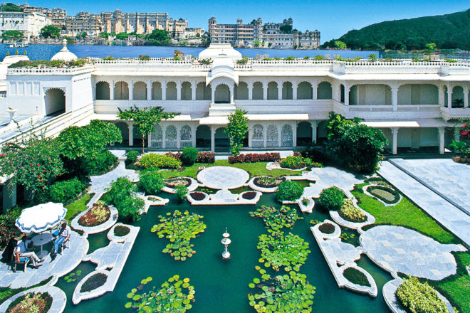 Taj Lake Palace in Udaipur, India.