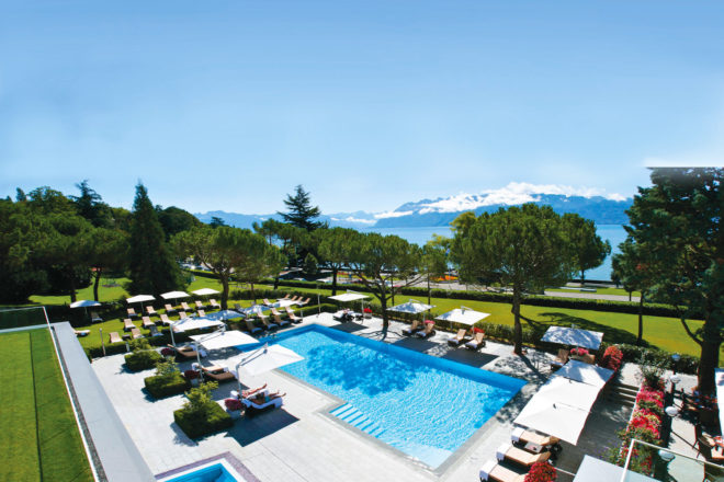 Beau-Rivage Palace in Lausanne, Switzerland.