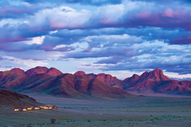Sossusvlei Desert Lodge in Namib-Naukluft Park, Namibia.