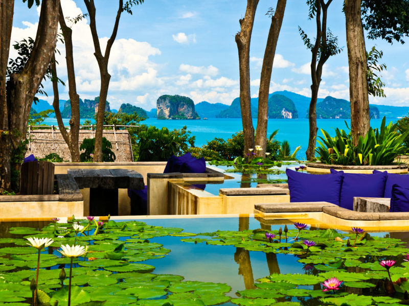 Six Senses Yao Noi resort in Phang Nga Bay, Thailand.