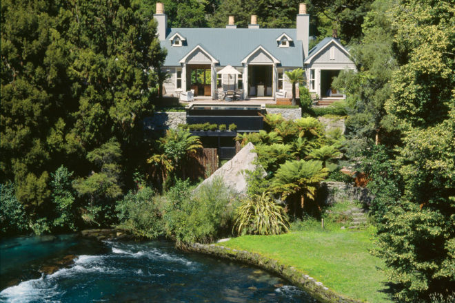 Huka Lodge in Taupo, New Zealand.