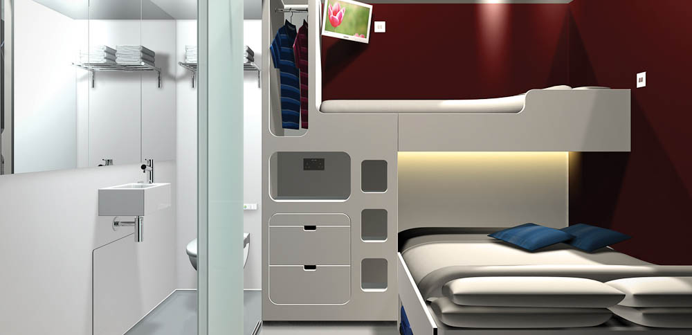 The Snooze Box: A 'pop-up hotel' in a shipping container that can be delivered to events.
