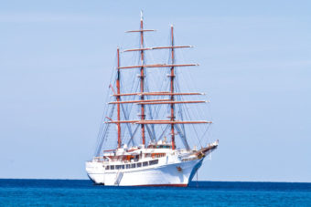 Cruising the Caribbean on The Sea Cloud II.