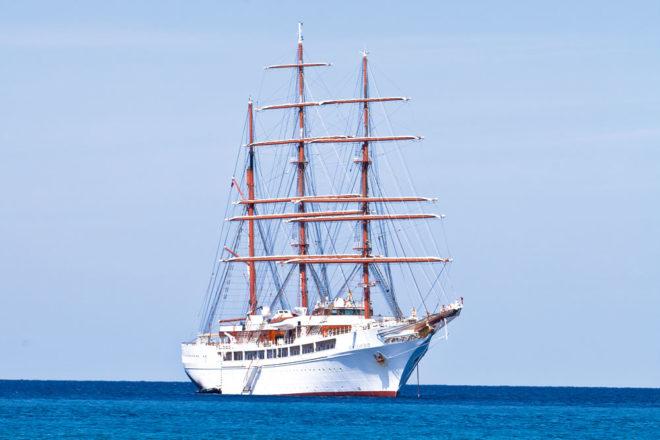 Cruising the Caribbean on The Sea Cloud II.