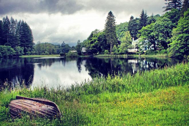 Loch Ard in Aberfoyle, Scotland.
