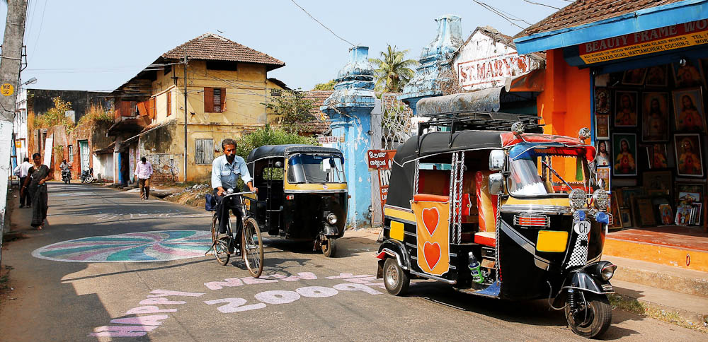 Tuk-tuk is the most popular way to travel in Kerala.